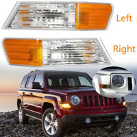 2pcs Front Left+Right Parking Turn Signal Light Lamp For Jeep Patriot  A!!