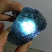 Rare NATURAL Cubic Green FLUORITE Quartz Crystal Mineral Specimen Healing 121g