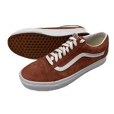 VANS Old Skool Shoes Mens Size 8.5 Canvas Low Skateboarding 751505 Burnt Orange