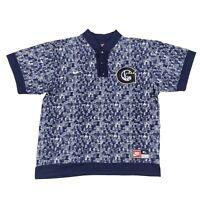 VTG 90s Nike Georgetown Basketball Hoyas Warmup Snap Shooting Shirt Mens Size XL