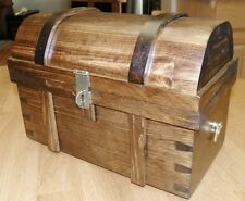 "Pirate Treasure Chest - Med Size (11.5"") Handcrafted Wood - Assorted Colors"