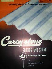 Carey Careystone Corrugated ASBESTOS Cement Roofing '50