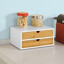 SoBuy® Kaffeekapsel Box,Kapselspender,Kapselständer mit 2 Schubladen,FRG180-WN