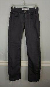H&M L.O.G.G. size 6 dark gray jeans. raw hem, stretch