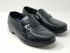 Bostonians Mens Black Soft Leather Moc Toe Loafer Size 9D