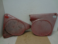 1969 1970 Greeves Griffon 380 Scrambler M58 Side Covers Dzus Buttons Springs Red