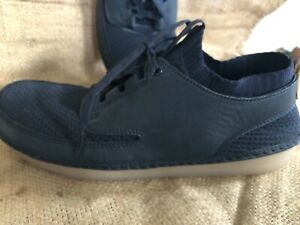 CLARKS Nature IV Mens 9 Casual Sneaker Shoes Navy Blue Combi Leather