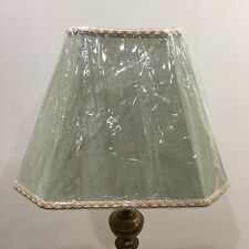 R15 Brand New Large  Table Lampshade Colour Sage Green Slight Patten & Braiding
