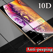 10D Anti-Spy Tempered Glass Screen Protector For iPhone 11 XS Max XR X 8 7 Plus