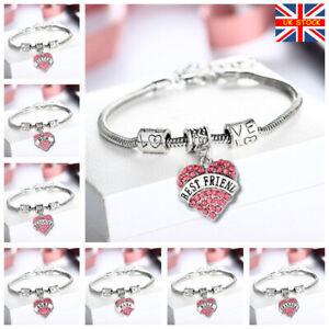 Best Friend/Sisters/Birthday/MUM Bracelet Tibetan Silver Charm Personalised Gift