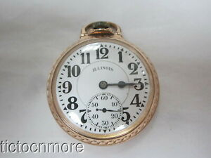 ANTIQUE ILLINOIS ELINVAR BUNN SPECIAL 60HR 161A RAILROAD GRADE POCKET WATCH 1931
