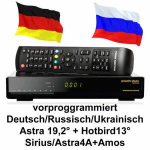 Russische TV Sat Receiver Golden Media FULL HD vorprogrammiert Deutsch Russisch