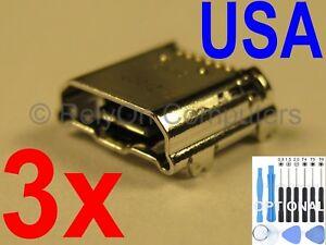 3x Lot USB Charging Port Micro Sync For Samsung Galaxy Tab 3 7.0 SMT-210R Tablet