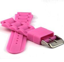 Silikon Uhrband - ICE - pink - 18 mm - Uhrarmband für Sportuhr, Taucheruhr,