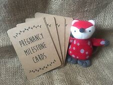 20 pregnancy Milestone/Moment Cards A6 Brown Kraft unisex baby shower photo prop