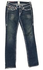 True Religion Jeans 'BILLY SUPER T' Indigo Size 27 L34 EUC RRP $499 Womens