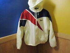Vintage 80's 90's Reebok Windbreaker Jacket with HOODY Men's Size Large.