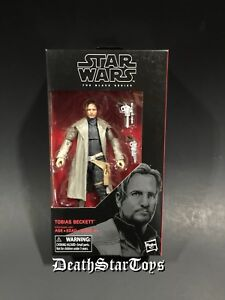 "Star Wars The Black Series 6"" Inch Tobias Beckett Solo Crimson Dawn #68 In Hand"