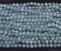 Natural Green Angelite Gemstone Round Loose Spacer Beads 6mm 8mm 10mm 12mm 15.5""