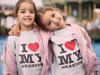 """I Love My Grandpa & I Love My Grandma matching t-shirts"