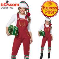CA837 Ladies Santa Elf Workshop Helper Christmas Xmas Fancy Dress Costume Outfit