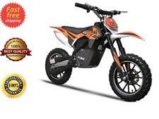 24v Electric Dirt Bike 500w Kids Ride Motorcycle Front Rear Disc Brakes 3 Speeds