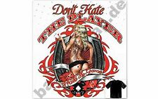 T-Shirt DON'T HATE THE PLAYER, Pin Up Hot Rod Dragster BIKER Rockabilly 469