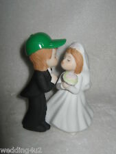 Wedding Party Ceremony Ranch Farmer John Farm Tractor Kissing Cake Topper