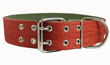 "Real Leather Dog Collar Padded 1.75"" wide 23""-27"" neck size Great Dane Mastiff"