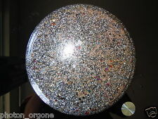 "Orgone Food/Water Charging Disc/Plate 11"" Shungite Magnetite Pyrite Copper Brass"