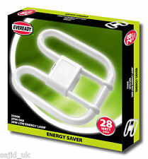 Eveready de ahorro de energía 2d Luz lámpara bombilla 28w 2 Pin 240v Cfl-libre de envío