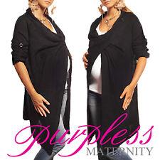Purpless Maternity 2 in 1 Pregnancy and Nursing Sweater Cardigan Coat B9005 Black 16/18