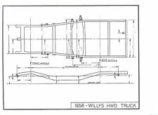 47 48 49 50 51 52 53 Willys Jeep  NOS Frame Dimensions