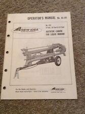 New Idea No. 223 Agitator Loader For Liquid Manure Operators Manual C