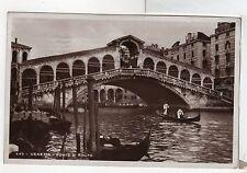 FC220 Venezia Ponte Di Rialto Italy RPPC Venice Gondola Real Photo RP 1934