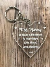 Personalised engraved teacher thank you end of term leaving keyring gift