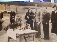 1945 orig press photograph EKSJO INTERNMENT CAMP SWEDEN WEDDING  GERMAN ACTOR