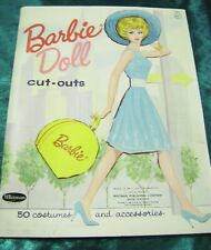 Vtg Paper Dolls 1962 Barbie Whitman #1963 Original Folder 1960s Uncut!