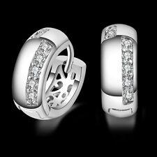 Fashion Women's 925 Sterling Silver Hoop Piercing Ear Earring Studs Jewelry Gift