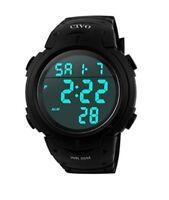 Sport Hand Watch Wristwatch Military Waterproof Simple Casual Digital Screen Big
