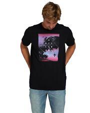 T-Shirt da uomo nera stampata Billabong manica corta girocollo casual cotone