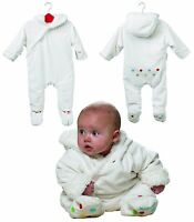 Koo-Di Snugsuit All-In-One White Unisex Baby Suit (3-6 or 6-12 months Available)