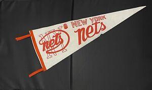 Vintage ABA New York Nets Felt Full Size Pennant 1968-1976 Before NBA