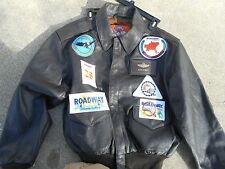 Cooper A-2 Leather Flight Jacket Size 46  Road Way Express