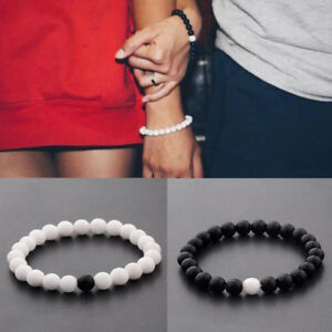 8mm Lava Chakra Natural Stone Agate Beads Couple Lover Relationship Bracelets
