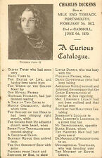 More details for charles dickens postcard  - a curious catalogue !  scarce card