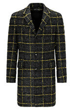 Drykorn Homme Manteau Laine Blacot English Style Slim Col à Revers Neuf Gr.50