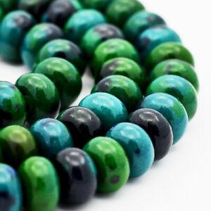 25 Jade Beads 6mm x 4mm Abacus Dyed Gemstone Beads - BD909