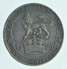 Roughly Size of Quarter 1906 Great Britain 1 Shilling World Silver Coin *961