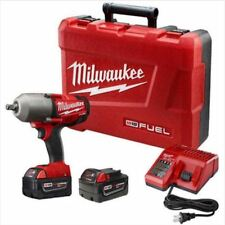 "Milwaukee 2763-22 18V 1/2"" Impact Wrench (2) 5.0Ah Batteries Charger"